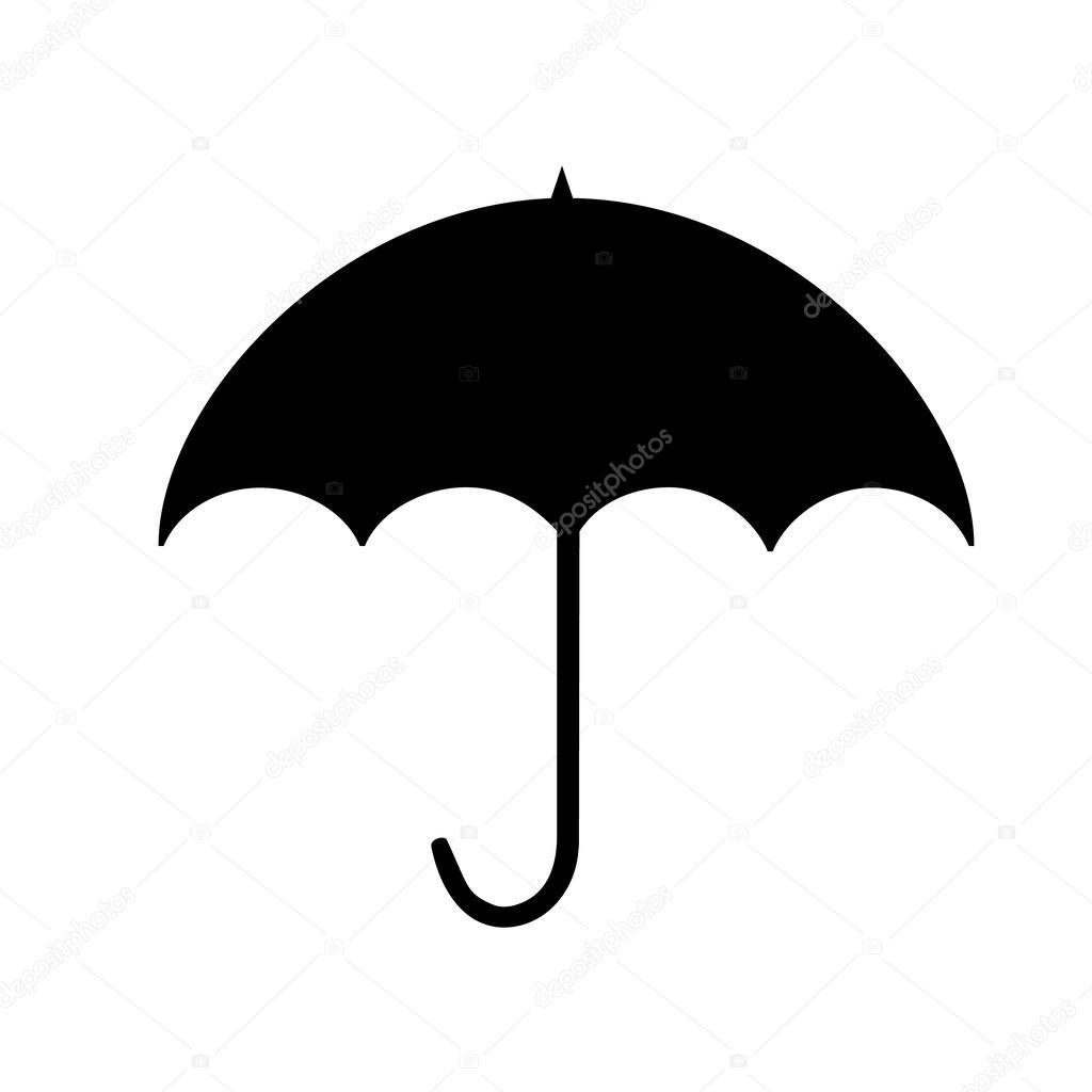 Umbrella silhouette — Stock Vector © shabacadesigns #54389603.