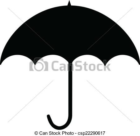 Vector Clip Art of Umbrella silhouette.