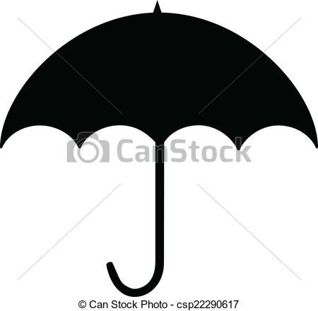 Vector Clip Art of Umbrella silhouette.