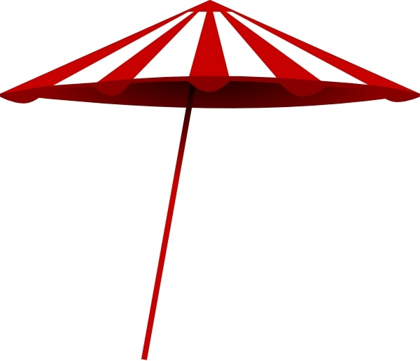 Tomk Red White Umbrella clip art Free vector in Open office.
