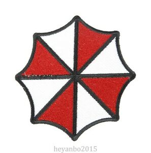 RESIDENT EVIL UMBRELLA CORPORATION LOGO EMBROIDERED BADGE.