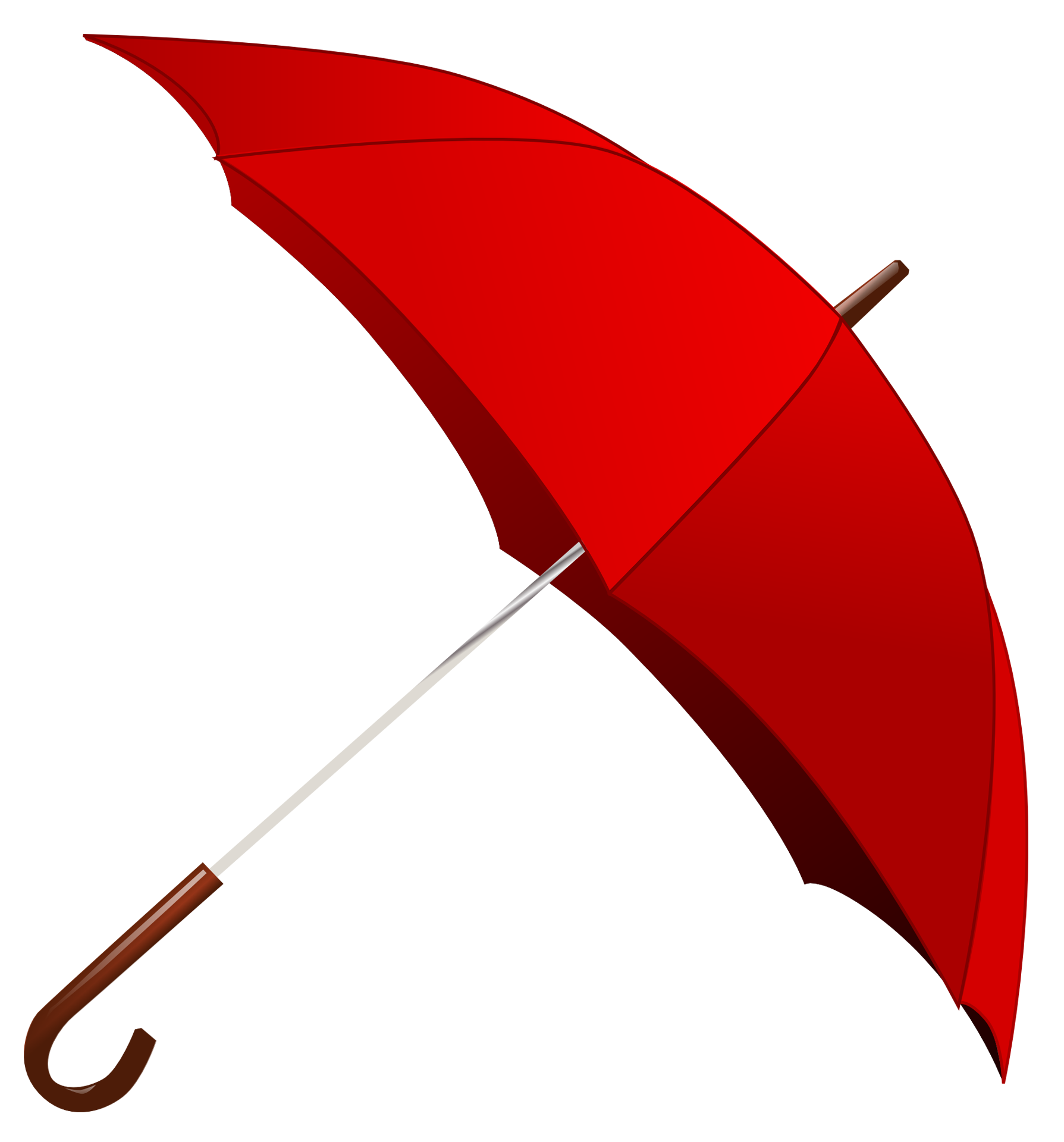 Red Umbrella PNG Image.