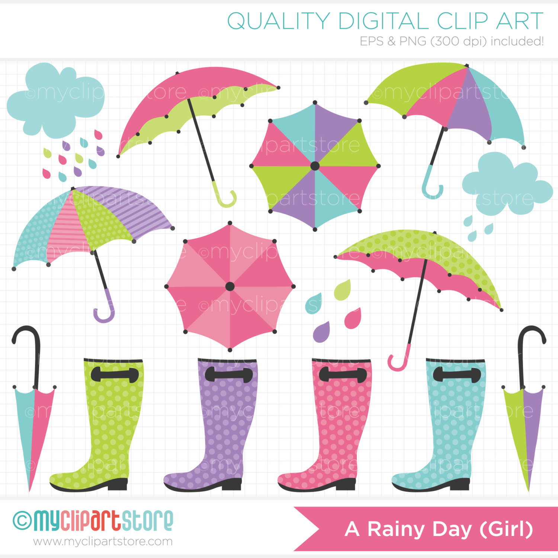 Rainy day umbrella clipart.