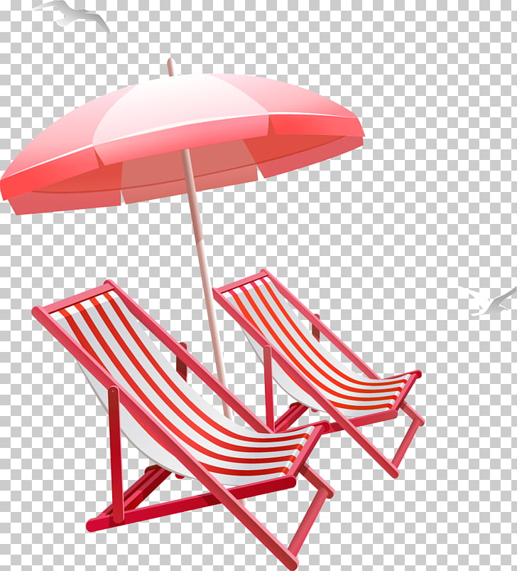 Table Umbrella Beach , Summer sun umbrella beach chair PNG.