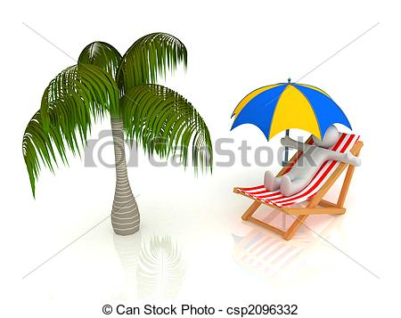 Clip Art of Beach.