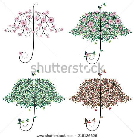 Umbrella Tree Stock Photos, Royalty.