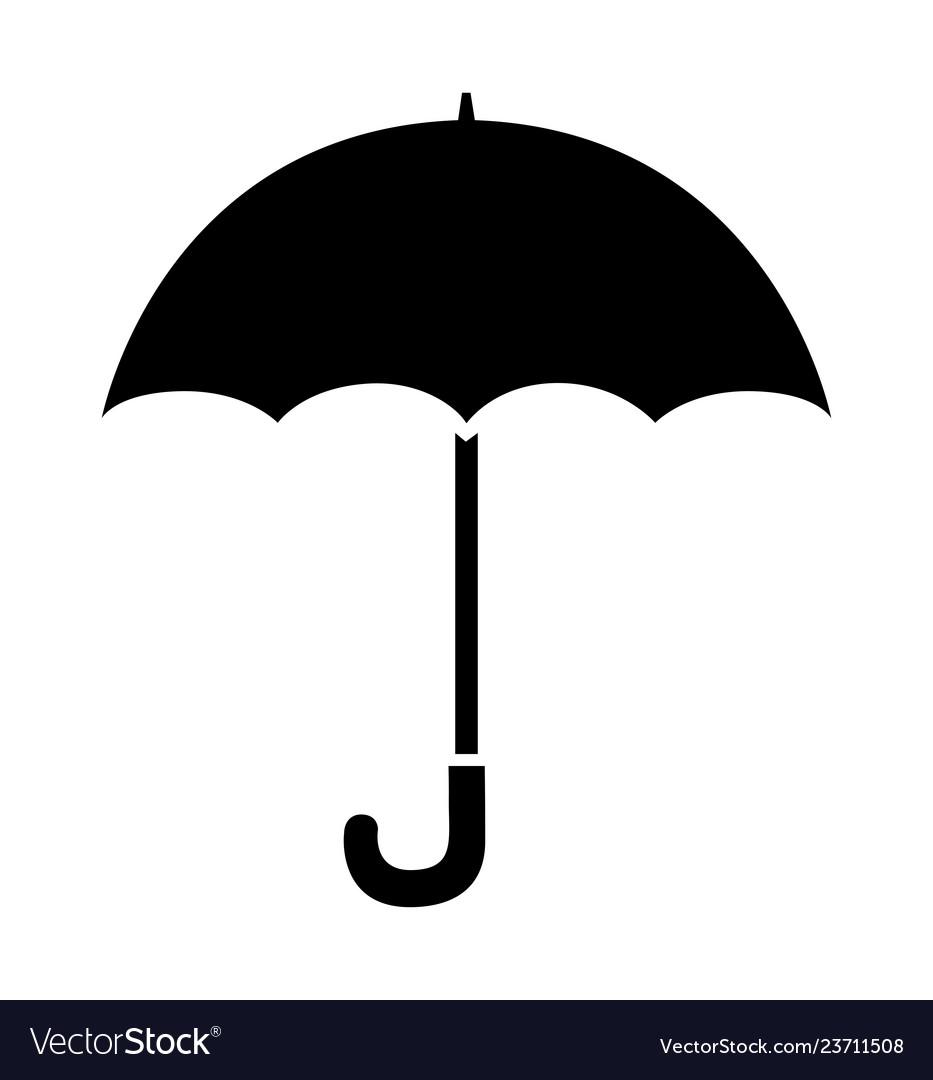 Umbrella icon black silhouette rain.