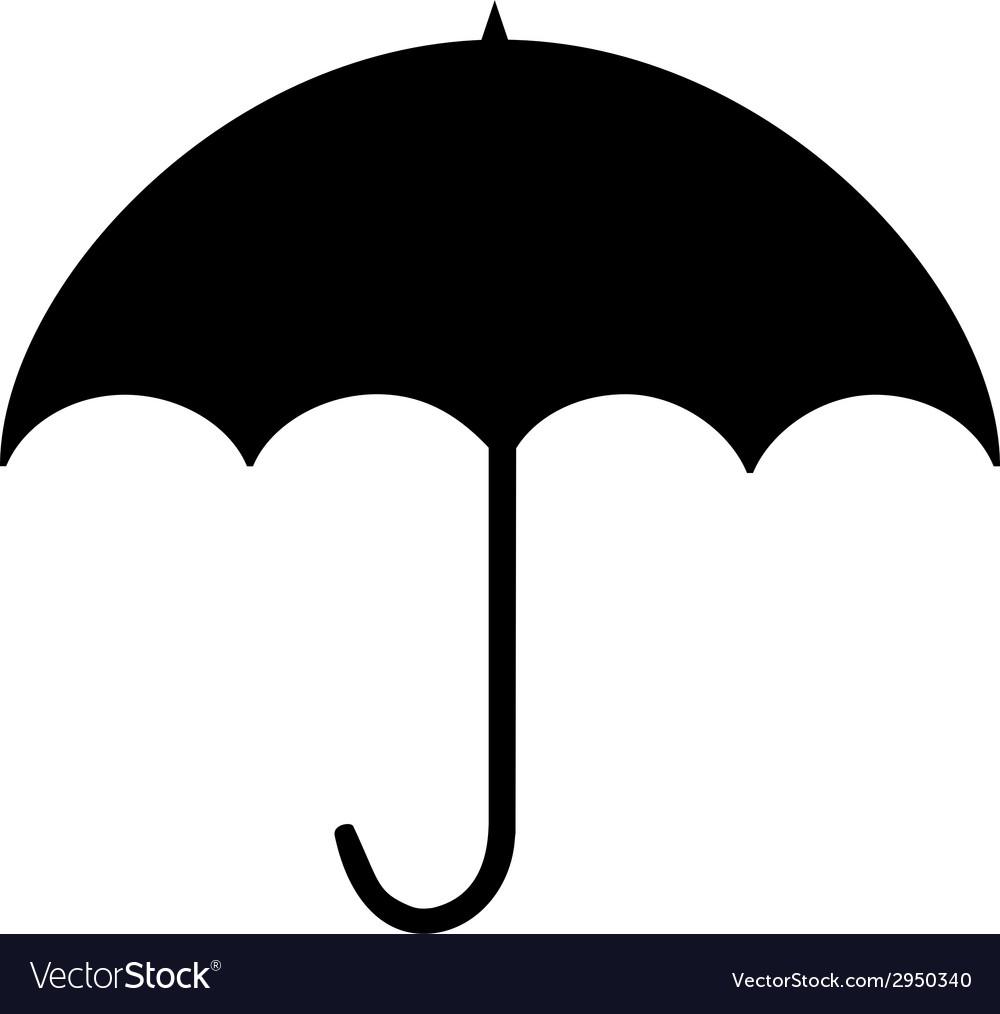 Black Silhouette Umbrella.