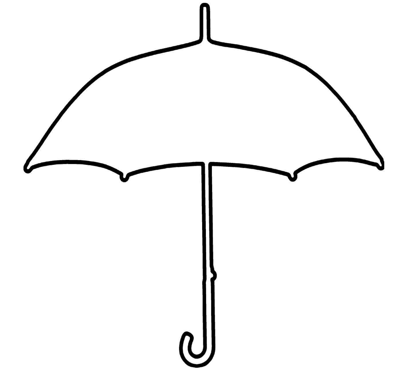 Upside Down Umbrella Clipart.