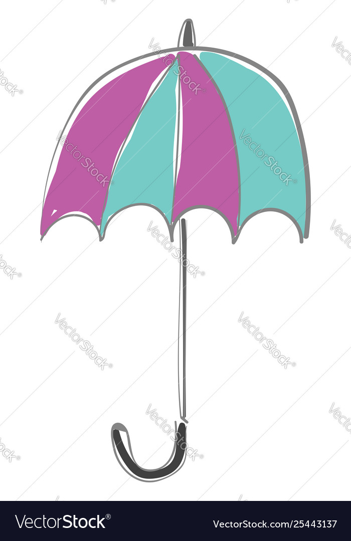 Clipart an appealing folded colorful umbrella.