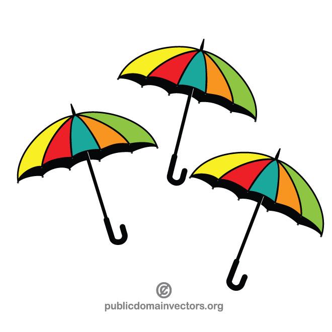 Colorful umbrella vector image.