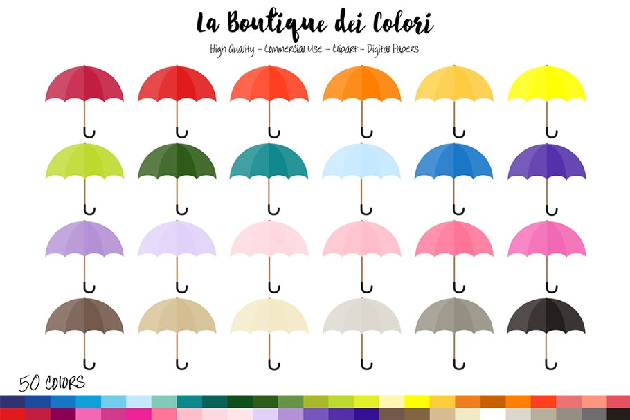50 Umbrella Planner Clipart ~ Illustrations ~ Creative Market.