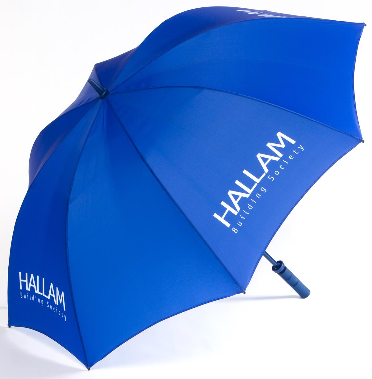 Umbrella with logo printing.