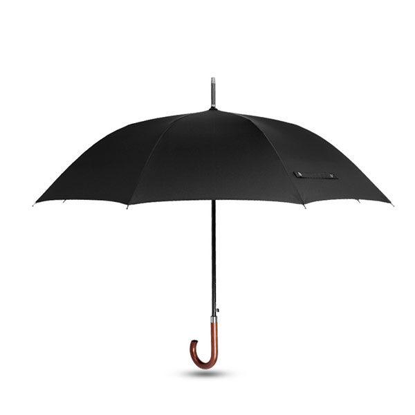 Logo Print Hotel Umbrella British Style Wooden Hook Handle.