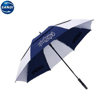 Promotional custom rain golf umbrella with logo.