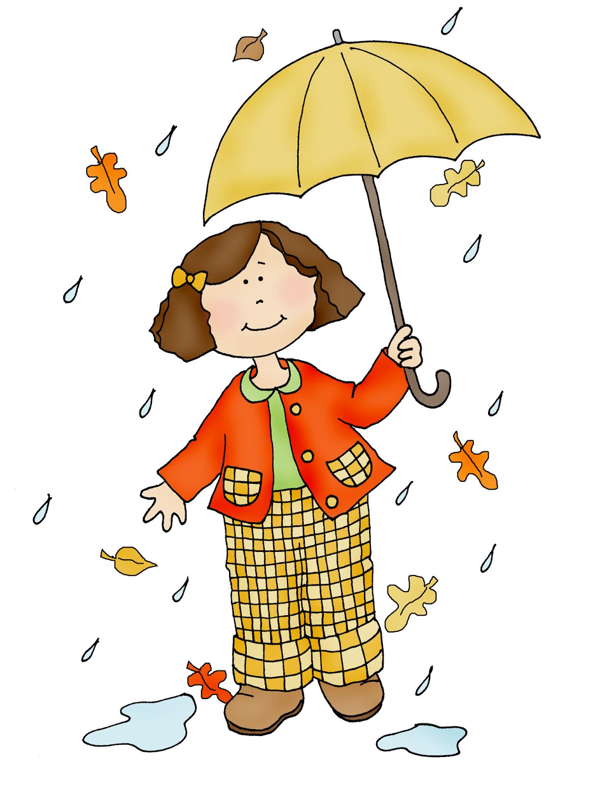 Autumn Rain Clipart.
