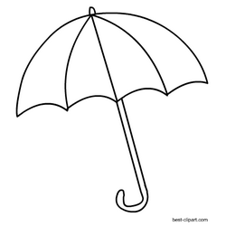 Free black and white umbrella clip art.
