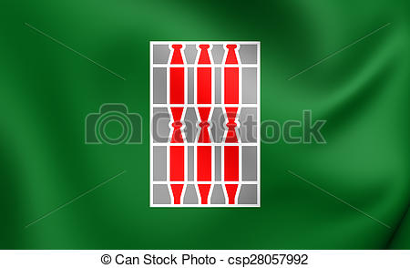 Stock Illustration of Flag of the Umbria, Italy..