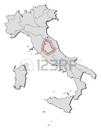 122 Map Of Umbria Stock Vector Illustration And Royalty Free Map.