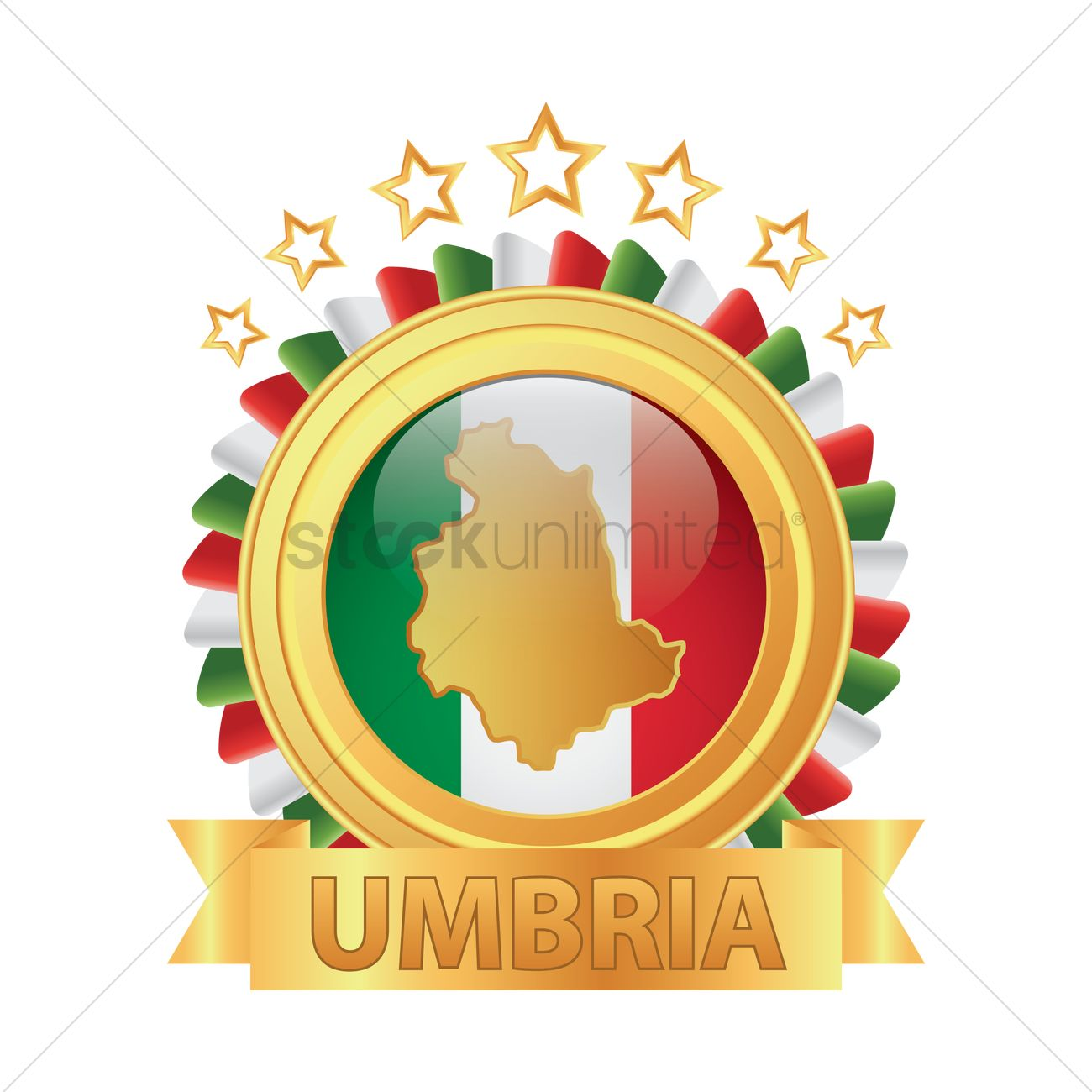 Umbria map Vector Image.