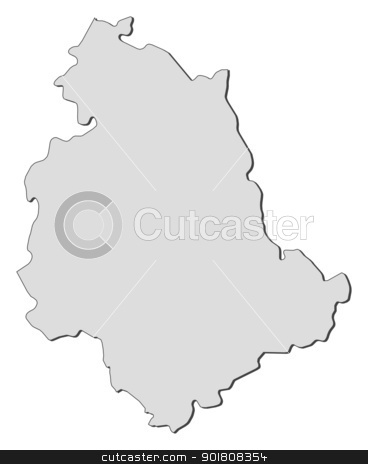 Map of Umbria (Italy) stock vector.
