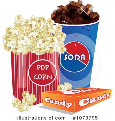 Movie Concessions Clipart.