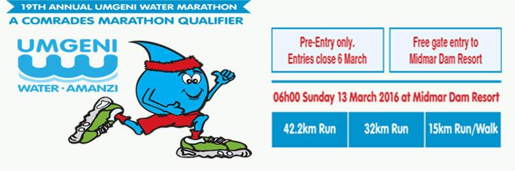 19th Annual Umgeni Water Marathon 2016.
