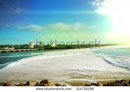 Durban Beach Stock Photos, Royalty.
