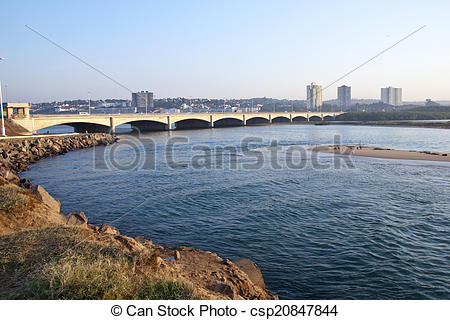 Stock Photo of Bridge Over the Umgeni River known as Blue Lagoon.
