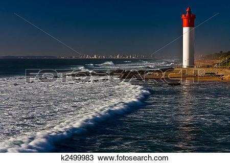 Stock Photo of Umhlanga Lighthouse k2499983.