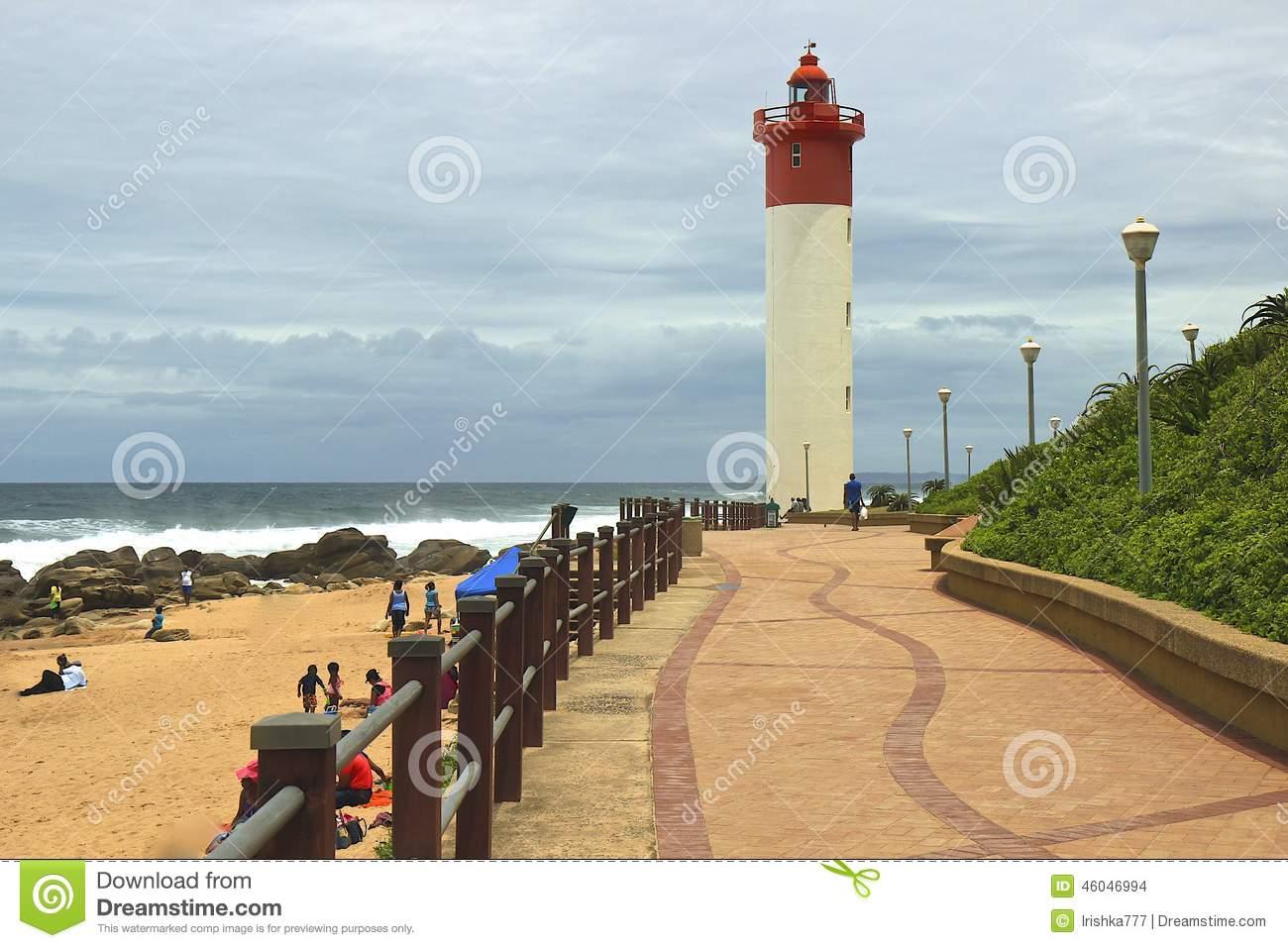 Umhlanga Promenade, South Africa Editorial Stock Image.