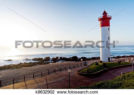 Stock Photo of lighthouse in Umhlanga, South Africa k8632902.