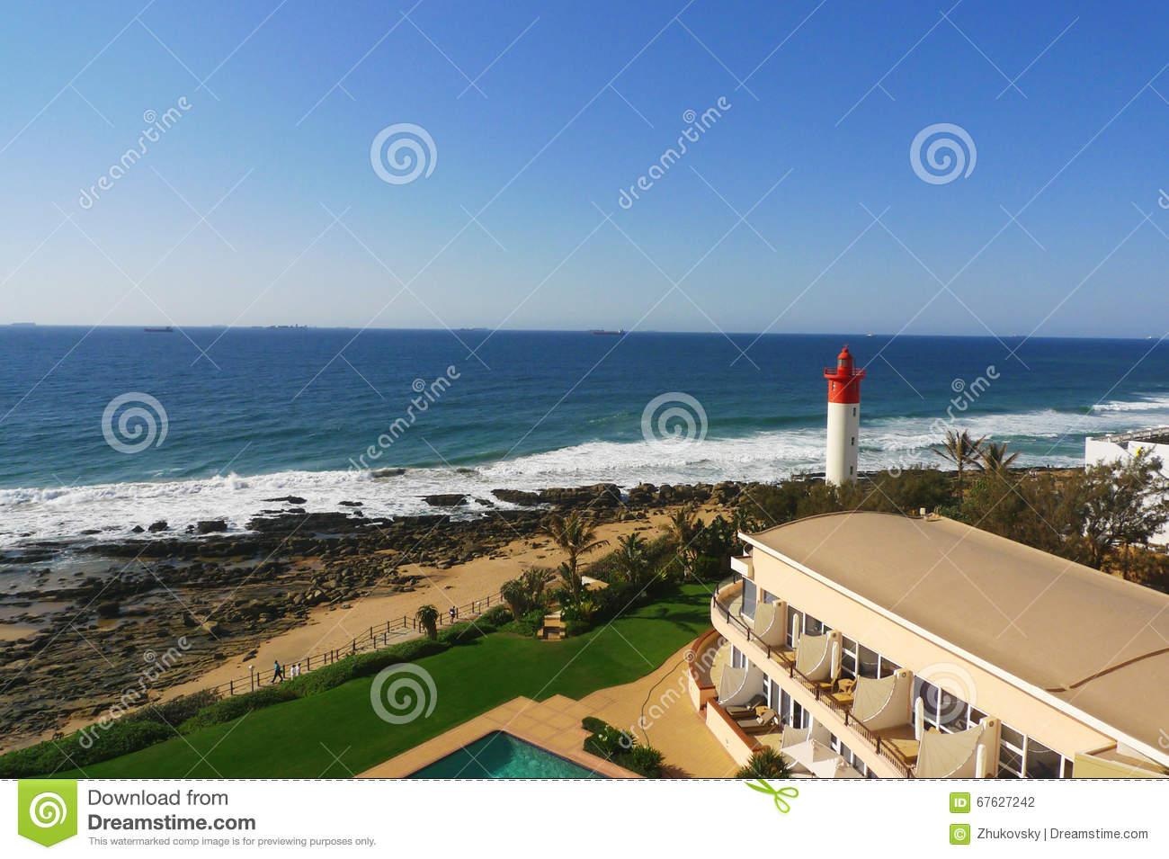 Umhlanga Rocks, Lighthouse Stock Image.