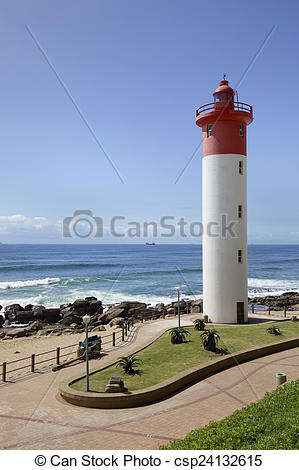 Stock Photography of Lighthouse in Umhlanga Near Durban on the.