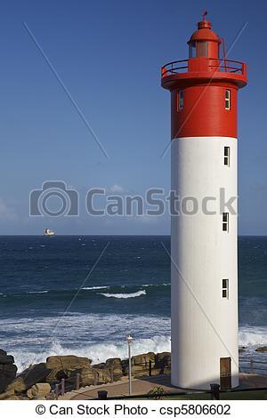 Stock Photo of Umhlanga Rocks, Lighthouse.