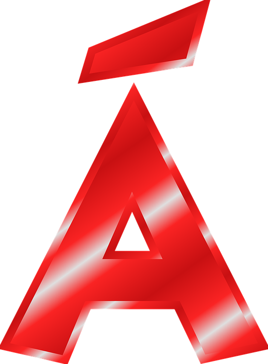 Free vector graphic: Alphabet, A, Á, Umlaut.