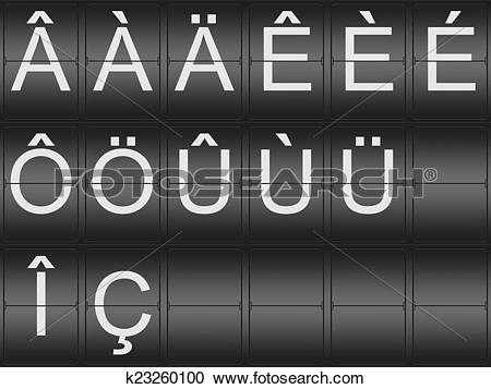 Stock Illustrations of Collection of umlaut and accent letters.