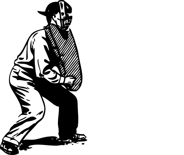 Umpire Clipart Black And White.