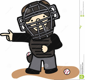 Softball Umpire Clipart.