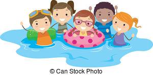 Schwimmen Illustrationen und Clip.