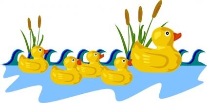 Gummi Ente Familie Schwimmen ClipArt cliparts, kostenlose clipart.