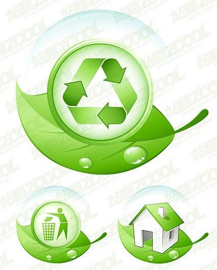 Umweltschutz zum Thema grünes Blatt.