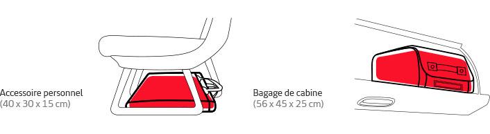 Bagages à main et en cabine.