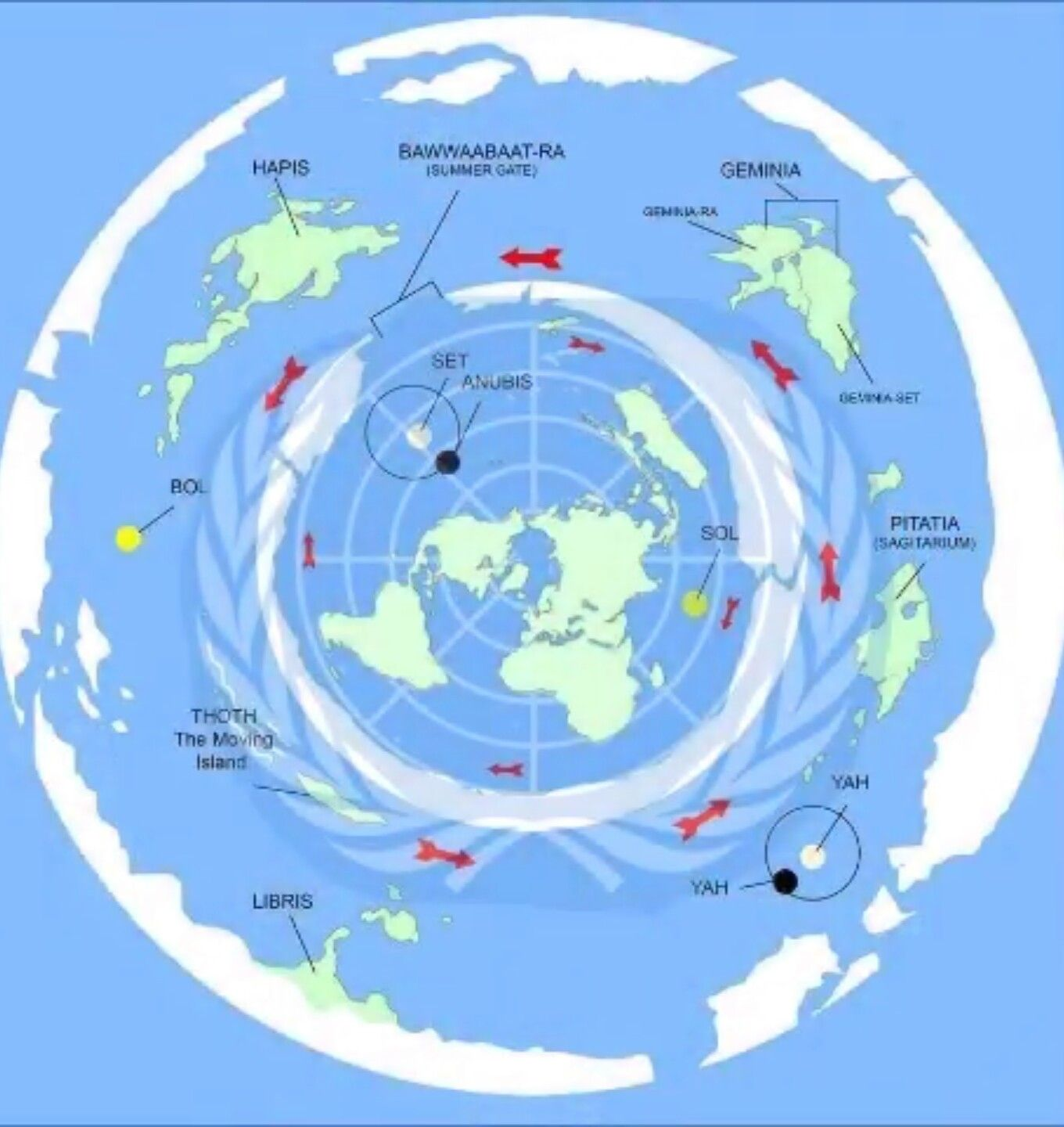 United Nations symbol has always had the flat earth truth in.