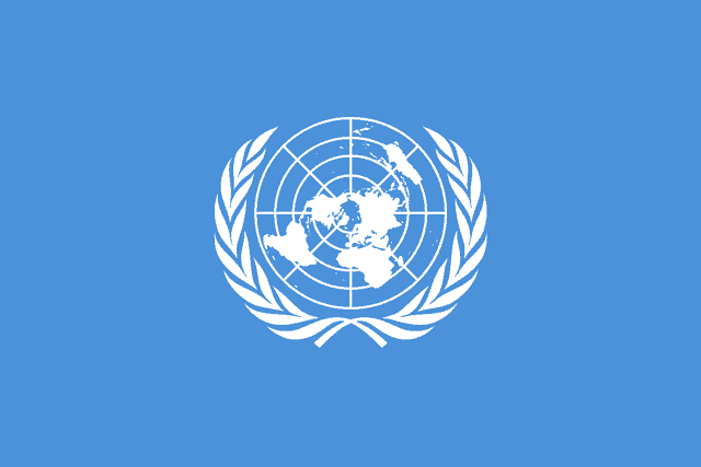 The Map Projection of the United Nations\' Flag.