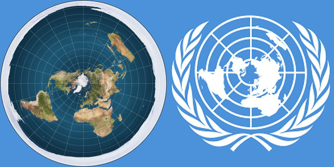 Map United Nations Logo.