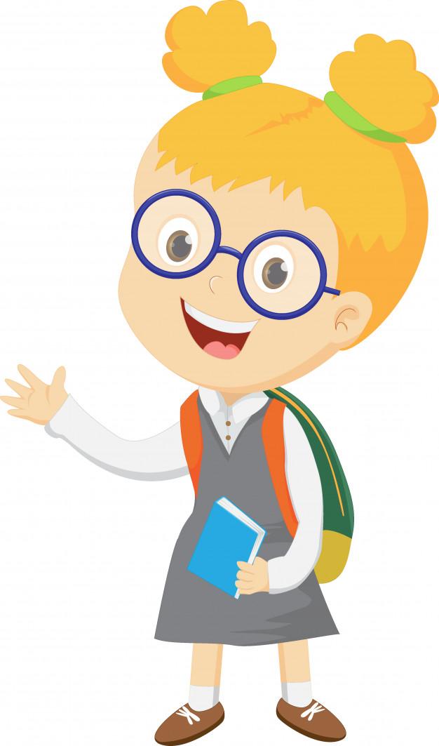 Sourire gai d\'un enfant avec un sac à dos.