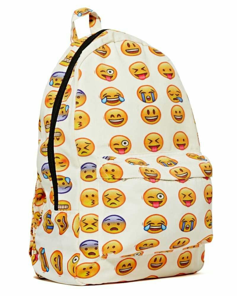 Un sac a dos avec des emojis.