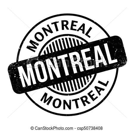Un sello de montreal. diseño grunge con arañazos de polvo.