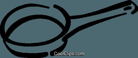 Sartén libres de derechos ilustraciones de vectores clipart.